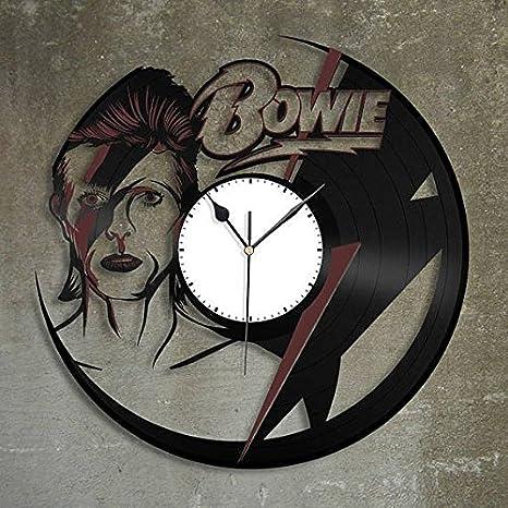 Amazon.com: David Bowie diseño vinilo – Reloj de pared hecho ...