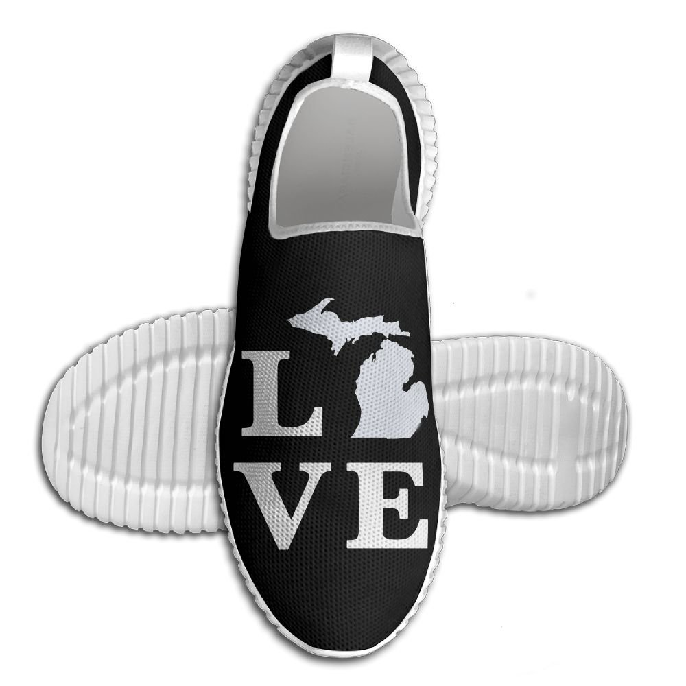 Michigan Love Lightweight Breathable Casual Running Shoes Fashion Sneakers Shoes