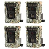 Browning Trail Cameras Defender 850 120' 20MP FHD Bluetooth Game Camera, 4 Pack