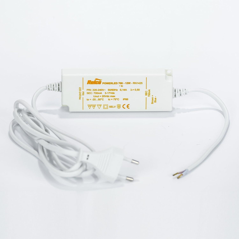LED Driver Konstantstrom 700mA 12W  220-240V IP66 LED Transformator Euroanschluß