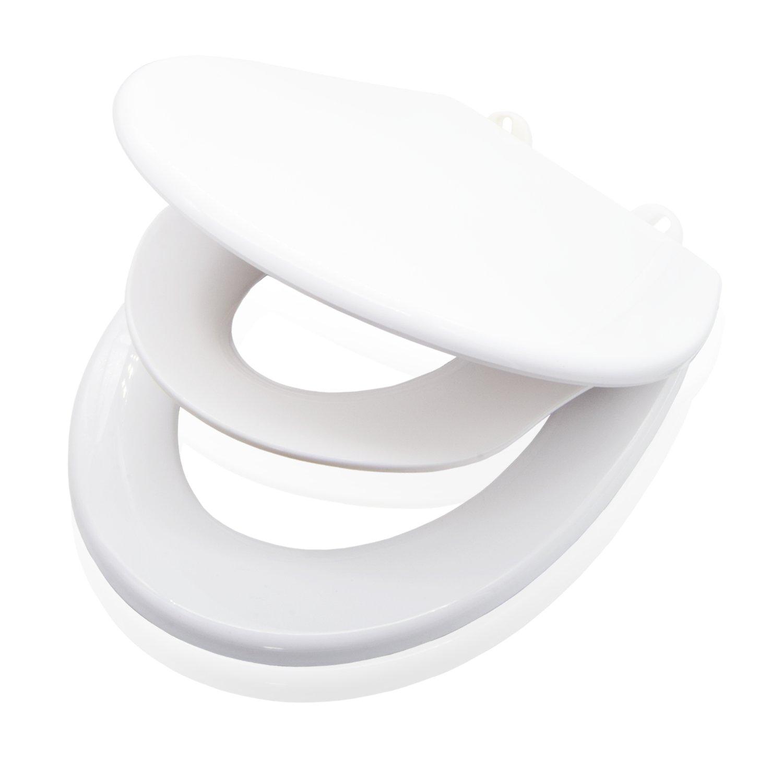 VALNEO siè ge toilettes familial premium avec lunette pour enfants en plastique robuste, fonction easy-clean - siè ge toilettes, lunette WC, siè ge toilettes enfants, lunettes WC enfants, rehausse enfants pour toilettes eSpring GmbH