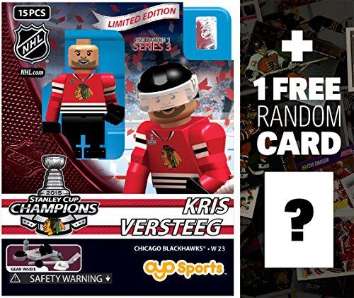 Kris Versteeg - Chicago Blackhawks (2015 Stanley Cup Champions): NHL x OYO Sportstoys Minifigure Series + 1 FREE Official NHL Trading Card Bundle