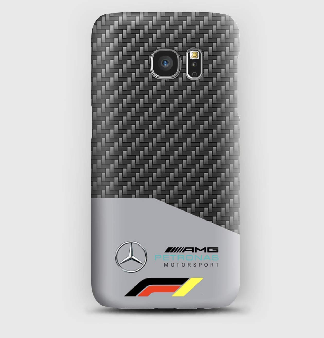 Carbon F1 Mercedes Cover Samsung S6, S7, S8, S9, A3, A5, A8, J3, J5, Note, 5,8,9