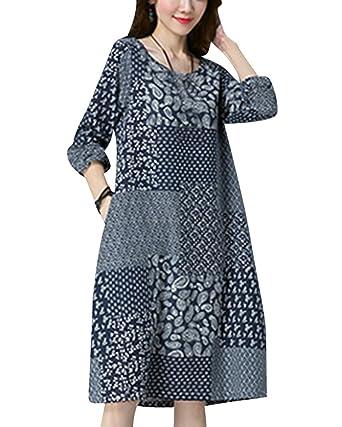 Damen Festliche Kleider Große Größen Vintage Kleider Strand Kleider ...