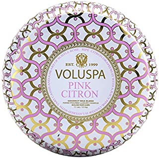 product image for Voluspa Pink Citron 2 Wick Tin Candle, 11 Ounces