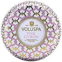 Voluspa Pink Citron 2 Wick Metallo Tin C...