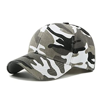 UxradG - Gorra de camuflaje militar para caza, pesca o actividades al aire libre, blanco: Amazon.es: Deportes y aire libre