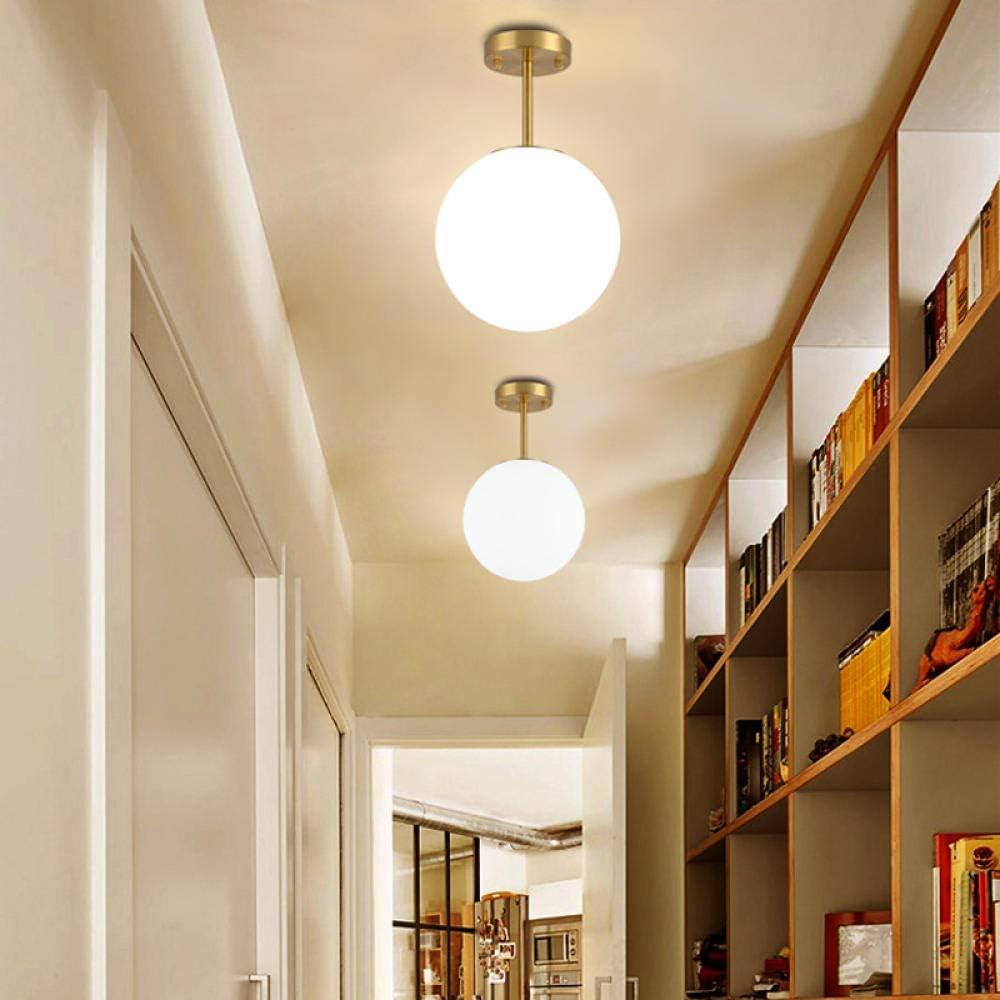 Personalidad creativa nórdica minimalista arte redondo lámpara de techo de latón pasillo pasillo escalera hueco luz de entrada al hogar: Amazon.es: Iluminación