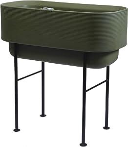 Crescent Garden Nest Indoor/Outdoor Raised Garden Bed Planter Box, 18-Inch x 36-Inch (Olive)