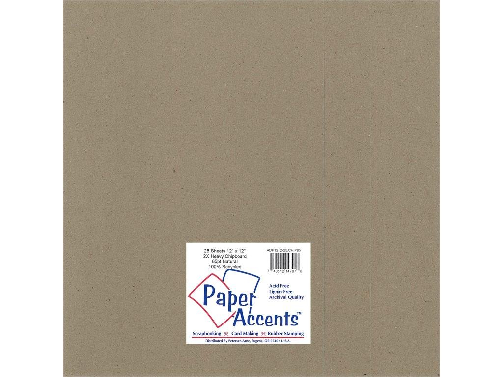 Accent Design Paper Accents ExtraHeavy NAT Chipboard 12x12 2X Heavy 85pt Natural