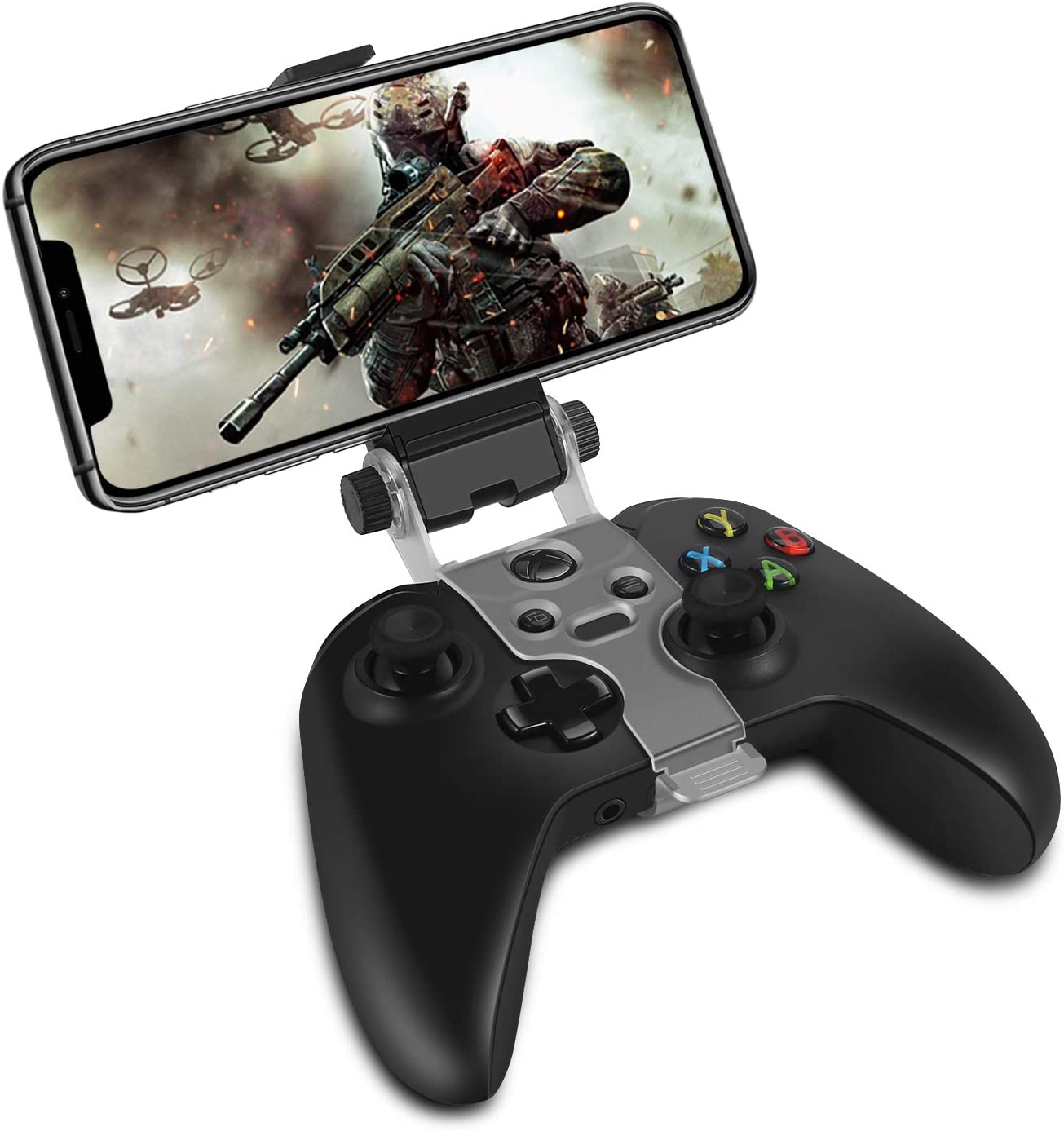 TNP Soporte de clip para Celular Compatible con Controlador Inalámbrico Xbox One S X, Soporte Plegable para iPhone 11 Pro Max, 11 Pro, 11, Xs Max, Xs, X, 8 Plus, 7,Android Samsung LG Xbox Accessories