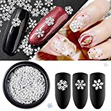 Nair Art,Putars Snowflake Shaped Dazzling Nail Sticker Colorful Cute Easy Nail Art Decoration for Christmas Decorations