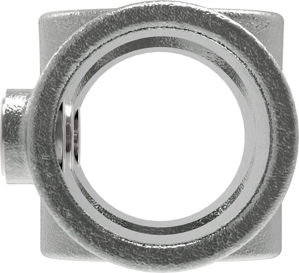 Fenau inkl Kreuz-T-St/ück Rohrverbinder /Ø 33,7 mm feuerverzinkt 0-11/° Schrauben Kreuz-Verbinder Temperguss galvanisiert
