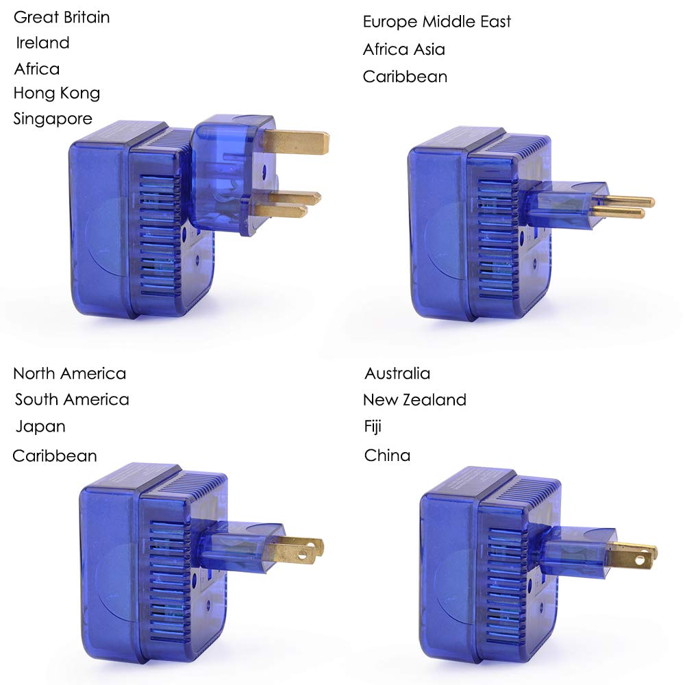 Bestten Travel Voltage Converter Plug Set 220 240v To 100 120v Socket And Apparatus For Dc Power On Wiring Australia Transformer Adapter With Worldwide Wall Plugs Uk Eu China Aus Middle East