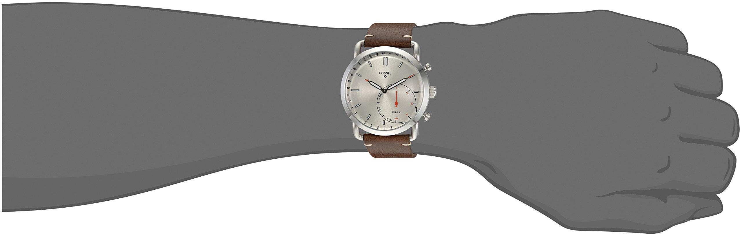Fossil Hybrid Smartwatch Q Commuter Dark Brown Leather Ftw1150