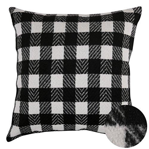 Deconovo Black And White Retro Checkered Plaid Throw
