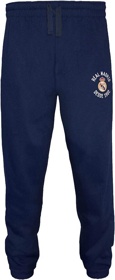 Real Madrid - Pantalón de fitness para hombre - Forro polar ...