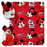 MLB St. Louis Cardinals Pitch Crazy Co-Branded Disney's Mickey Hugger and Fleece Throw Set