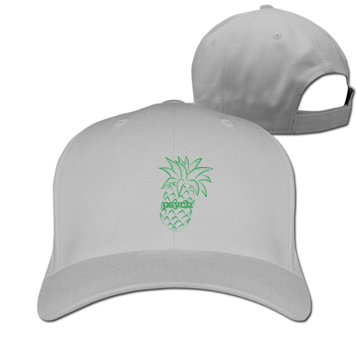 Psych Pineapple Fashion Adjustable Cotton Baseball Caps Trucker Driver Hat Outdoor Cap Gray