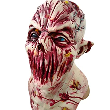 Amazon.com: StarALL Halloween Mask Walking Dead Latex Mask Halloween Prop Full Head Horror Zombie Masks Costume Party Cosplay: Clothing