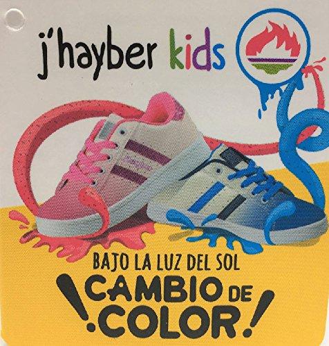 be3198485 J hayber Deportivo Cambian de Color Blanco-Rosa  Amazon.es  Zapatos y  complementos