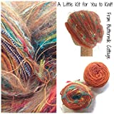 Boutique Yarn Slouchy Hat Knitting Kit Orange One Size