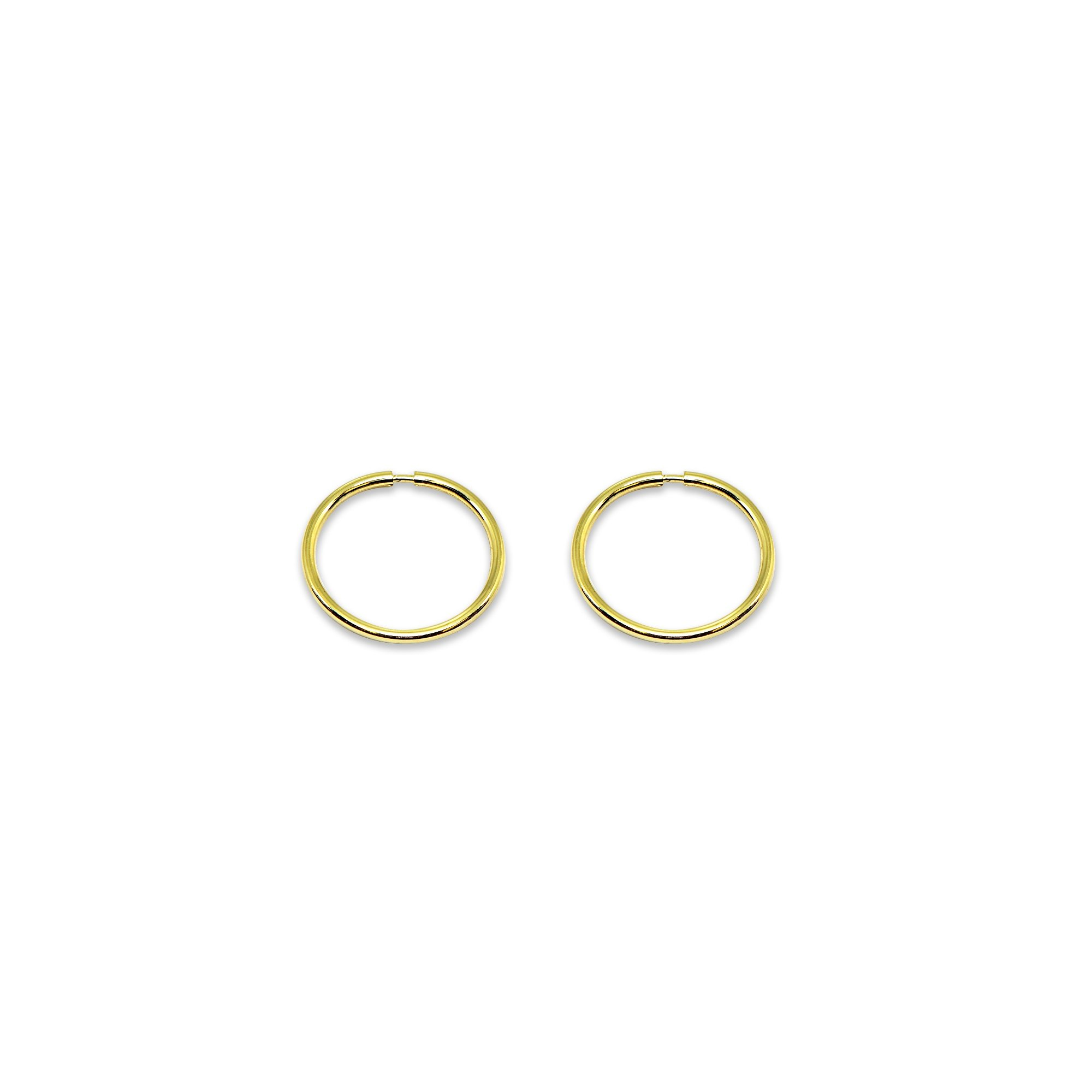 abd75c806 Galleon - 14K Gold Tiny Small Endless 10mm Round Thin Lightweight Unisex  Hoop Earrings