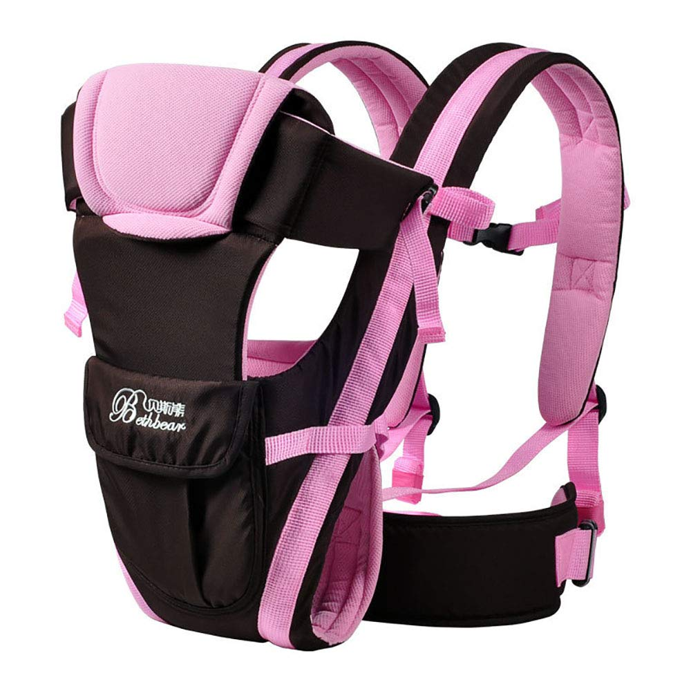 2-30 Months Baby Carrier, Ergonomic Kids Sling Backpack Pouch wrap Front Facing Multifunctional Infant Kangaroo Bag (Pink) 61iZAe8xAYL