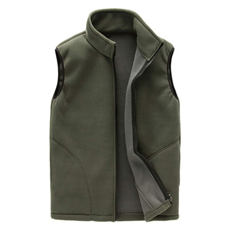 Nerefy Men Winter Fleece Vest Male Thick Warm Waistcoat Outwear Thermal Soft Vests Sleeveless Jacket