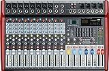 MUSYSIC Professional 12 Channel 8000W Power Mixer 24-bit FX Processor MU-P212fx