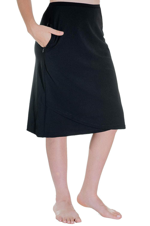 ec4180cc46f Amazon.com: HydroChic Mia Faux Wrap Swim Skirt - Chlorine Proof ...