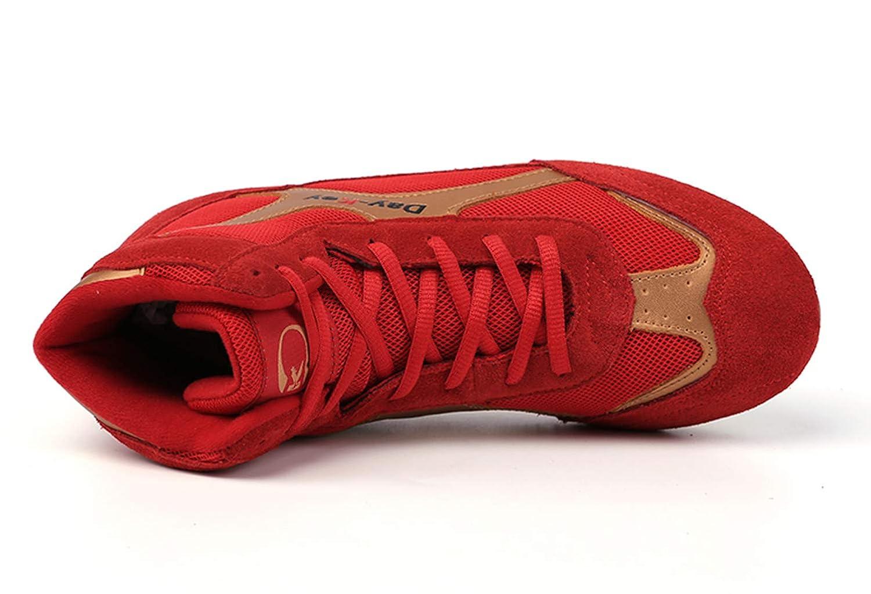 Chaussures de Catch Respirant pour Hommes Chaussures d/'entra/înement Art Martial