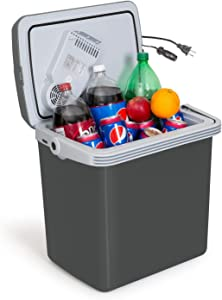K-Box Electric Cooler and Warmer for Car and Home - 34 Quart (32 Liter) - Dual 110V AC House and 12V DC Vehicle Plugs
