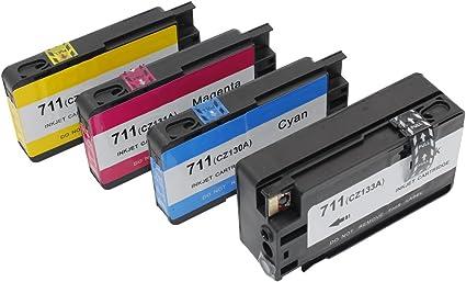 inkway para HP 711 711 x l Cartucho de tinta compatible 4 unidades ...