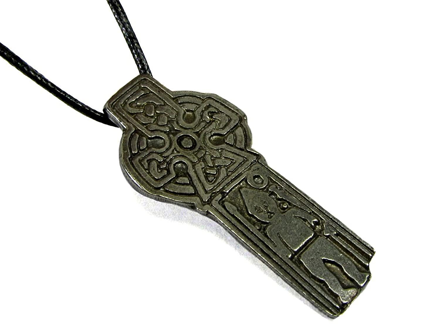 """Norse Warrior's Cross, Pendant with Cord Necklace, 1 1/2"""" Long"""