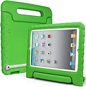 SIMPLEWAY iPad Case, iPad 2 3 4 Case, Shockproof Lightweight Convertible Handle Stand Kid-Proof Protection Cover Compatible with Apple iPad 2, iPad 3rd Gen, iPad 4th Generation Tablet, Green