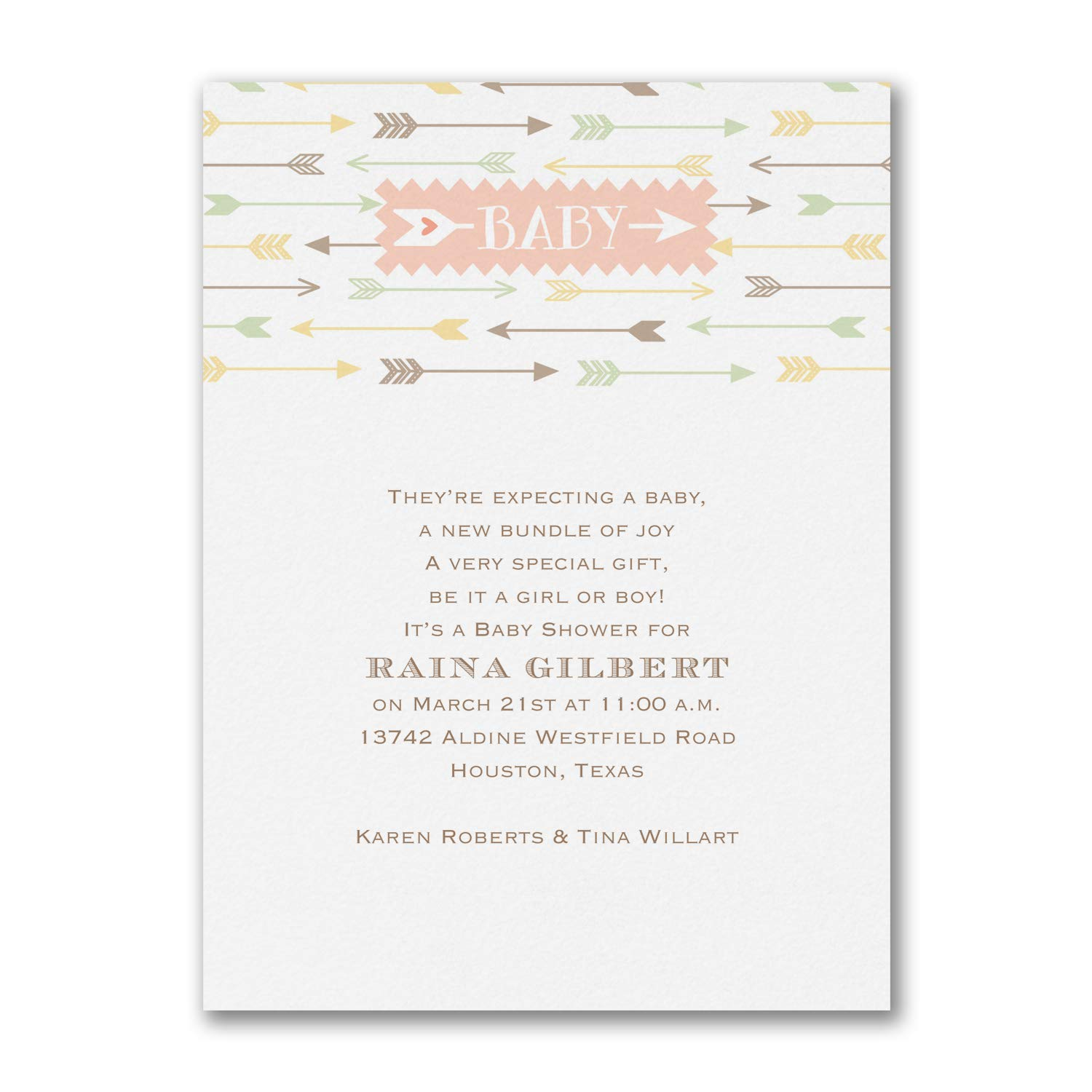 425pk Little Arrows - Baby Shower Invitation-Shop All Baby