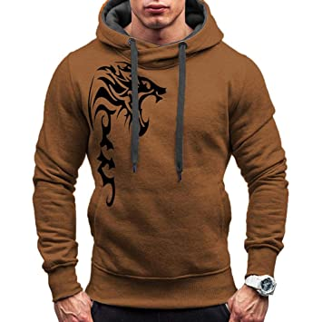 Logobeing Sudaderas de Hombre Otoño Invierno Abrigos Ropa Sudaderas Hombre Deporte Casual Outerwear Manga Larga Camisetas Chaqueta Suéter Chaqueta Punto ...