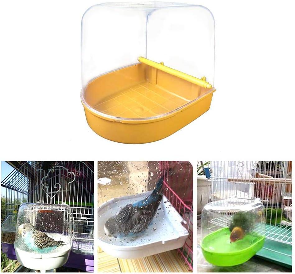 bouncevi Magaryes Jaula De Pájaros con Caja para Bañera De Pájaros Suministros para Mascotas Loro para Bañera Ducha Estantería. marvelously Steadfast