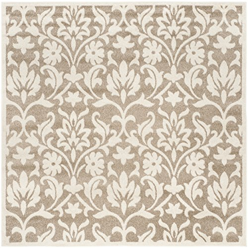 (Safavieh Amherst Collection AMT424S Wheat and Beige Indoor/ Outdoor Square Area Rug (7' Square))