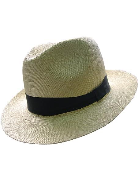 Gamboa - Cappello Panama Autentico Unisex Borsalino Ala Corta Capello di  Paglia ceaea87eaebd