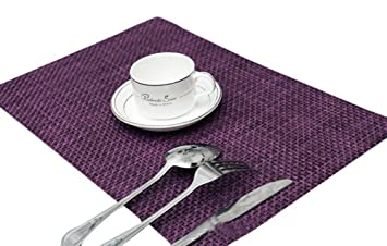 Sealike Vintage Rectangle Woven Placemat Table Mat Set of 4 With Stylus(Purple)  sc 1 st  Amazon.com & Amazon.com: Sealike Vintage Rectangle Woven Placemat Table Mat Set ...