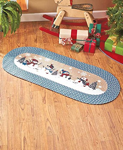 Snowman Christmas Area Braided Runner Rug 48 Quot In The Uae