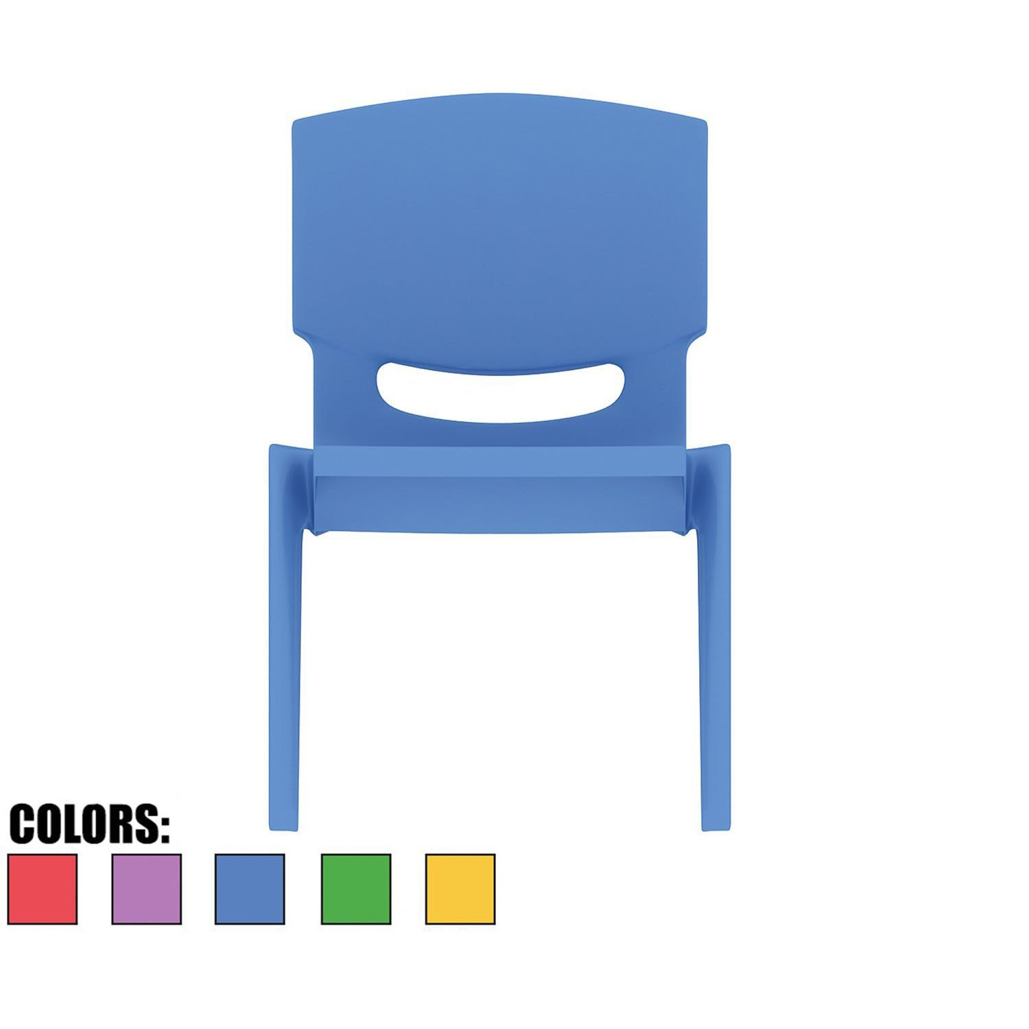 2xhome - Blue - Kids Size Plastic Side Chair 10'' Seat Height Blue Childs Chair Childrens Room School Chairs No Arm Arms Armless Molded Plastic Seat Stackable