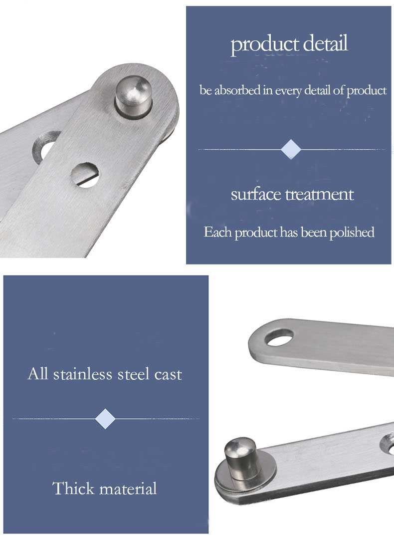 KFZ Upper and Lower Hinges Slot Concealed Door Hinges JD-DJPF09 360 Degree Rotating Hardware Fittings (10,No.2-Central Axis at The Edge-S)