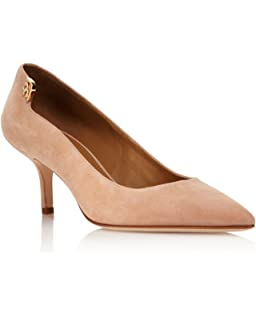 d60dfe6ba Amazon.com | Tory Burch Women's Elizabeth Suede Mid Heel Pumps, Dust ...