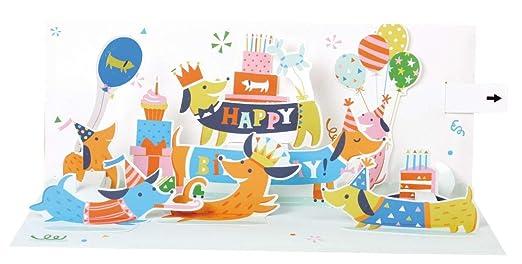 Música Pop Up 3d panorámico tarjeta Cumpleaños Tarjeta de ...