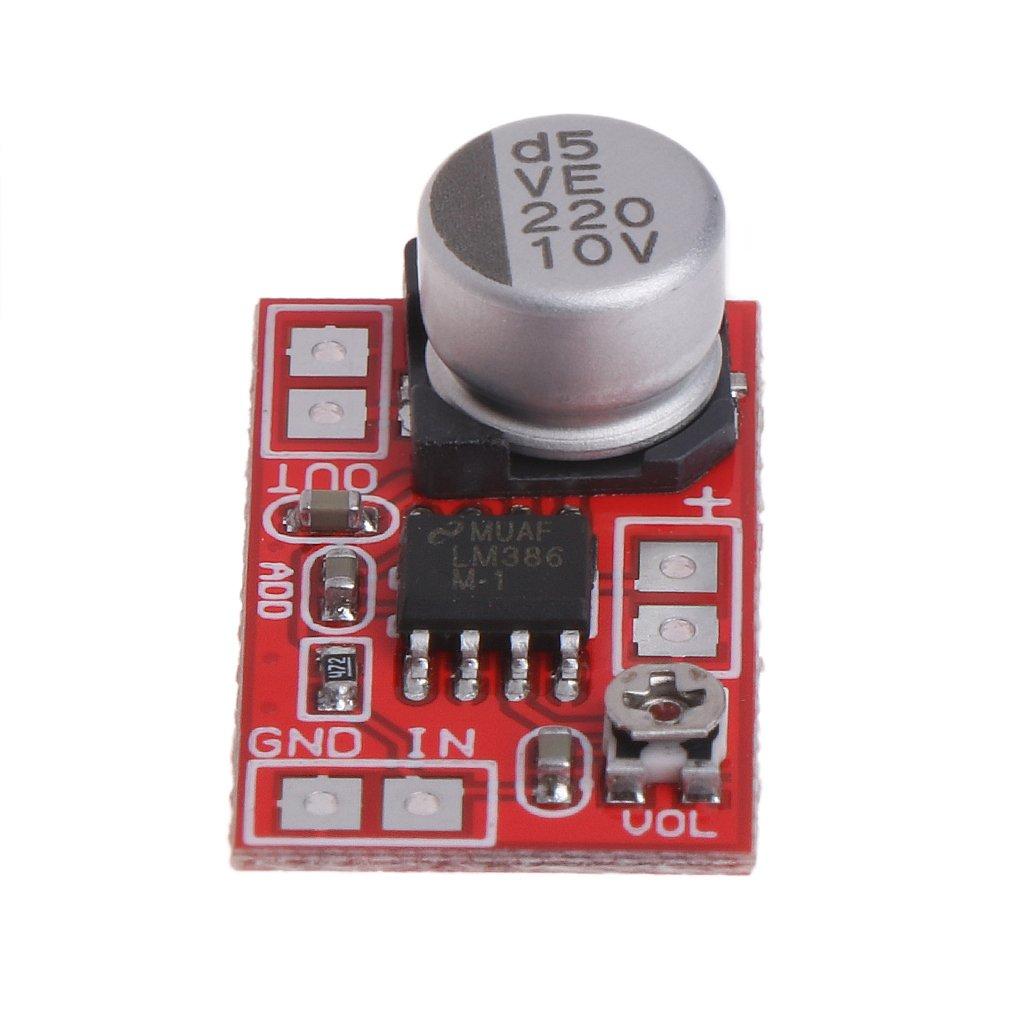 Scheda di Amplificatore Digitale MYA Micro Amplificatore di Potenza DC 5 V-12 V Mic condensatore Mini Microfono Amplificatore Board Scheda di Amplificatore di Potenza
