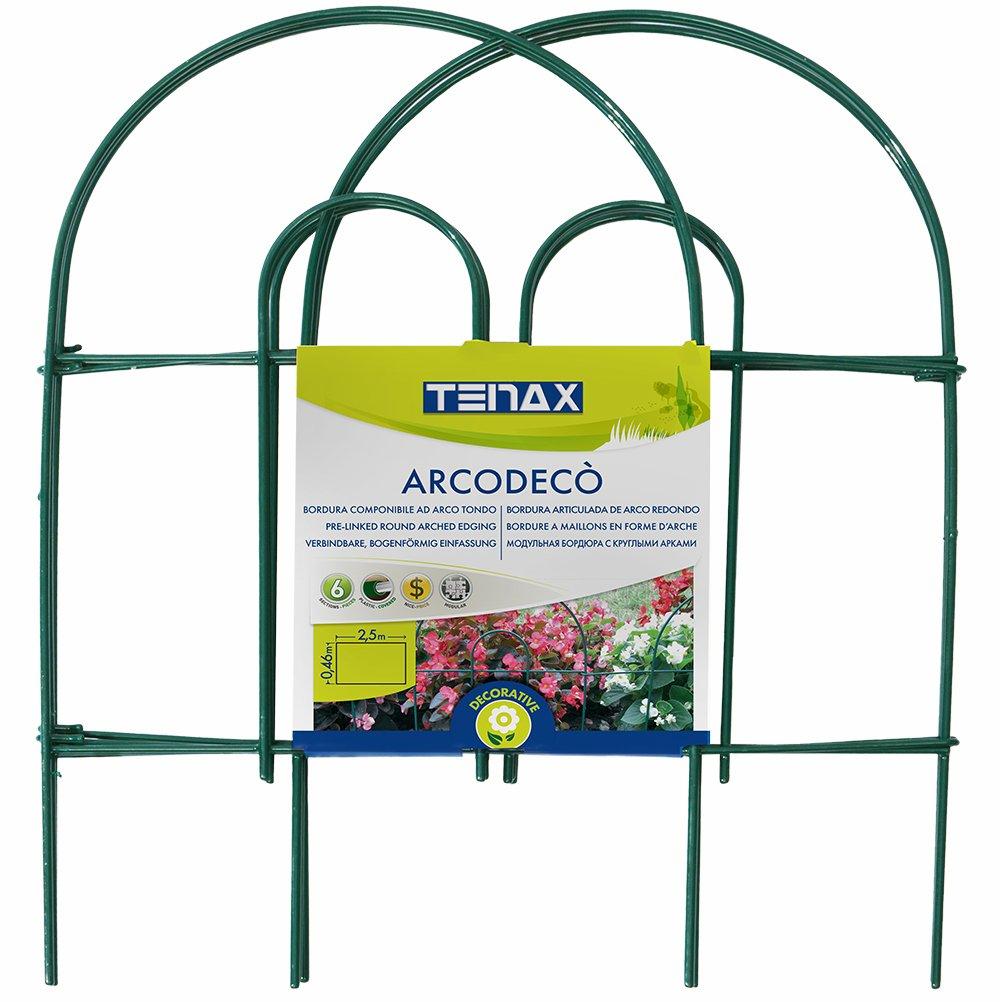 Tenax 3A021139 Arcodeco Bordura ad arco tondo in acciaio plastificato 42 x 46 cm