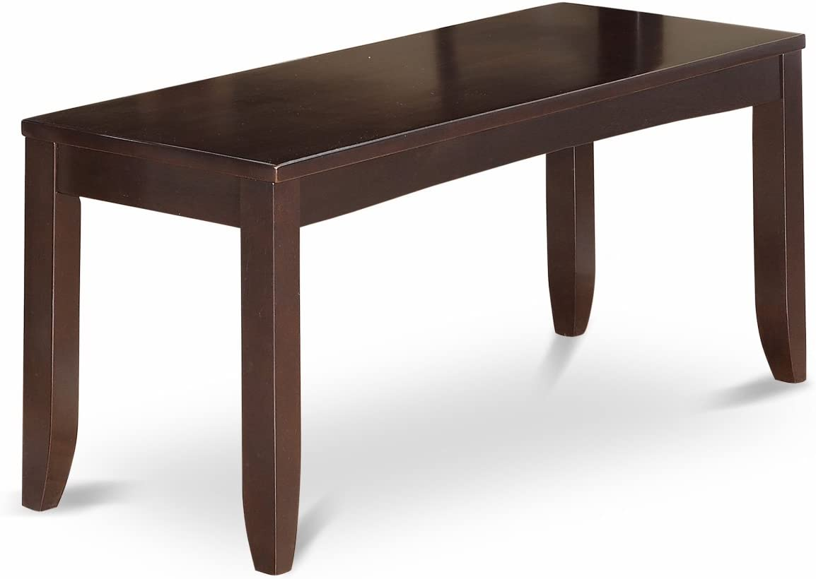 Lynfield Dining Bench with Wood Seat in Cappuccino Finish